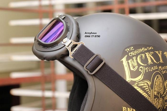 kính mũ bảo hiểm phi công 7 màu