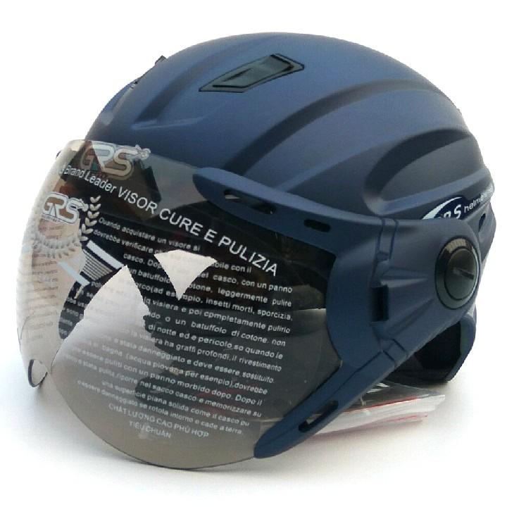 mũ nửa đầu A737k có kính tím than nhám