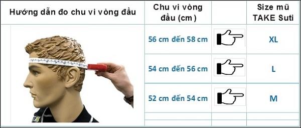 Cách đo vòng đầu mua mũ bảo hiểm