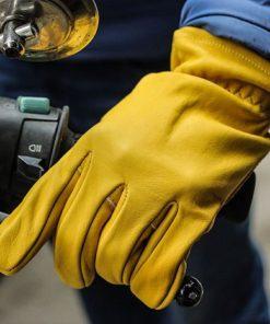 găng tay da xe máy
