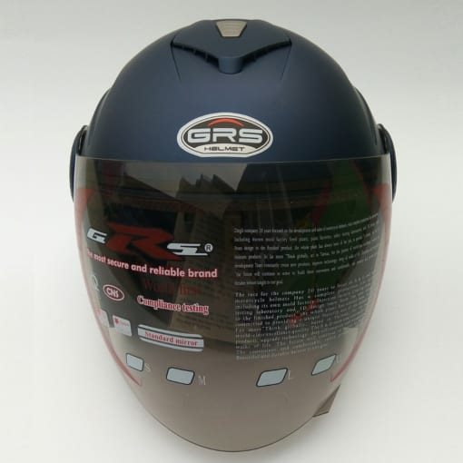 mũ a649k 3/4 có kính xanh than nhám