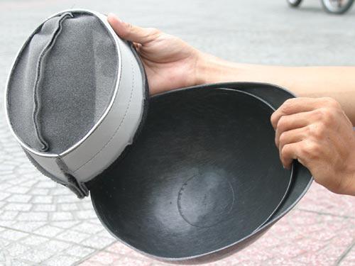 Mũ bảo hiểm kém chất lượng