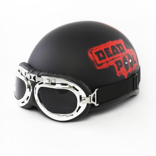 Mũ bảo hiểm có kính phi công Deadpool