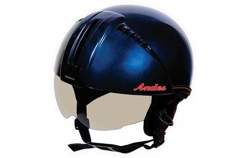 Mũ bảo hiểm xe máy Andes 181 màu xanh bóng